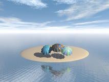Зонты Стоковые Фотографии RF