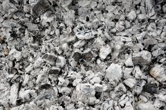 Зола и, который сгорели уголь Стоковая Фотография RF