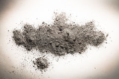 Зола, пыль, песок или грязь на куче как смерть, кремация остаются, b стоковое изображение rf