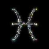 зодиак звезд pisces Стоковое Фото