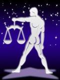 зодиак знака libra Стоковое Изображение