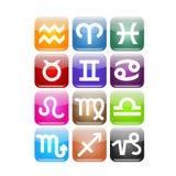зодиак иконы Стоковое фото RF
