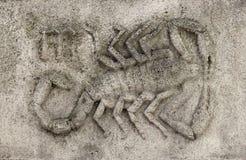 Зодиак - Scorpio или скорпион Стоковое фото RF
