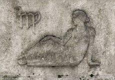 Зодиак - Virgo или девушка Стоковое Изображение RF