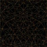 Золотая абстрактная картина линий Стоковое Фото