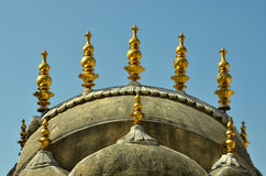 Золотая архитектура с куполом стоковые изображения rf