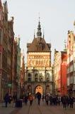 Золотая дата в Гданьске Стоковое Изображение RF