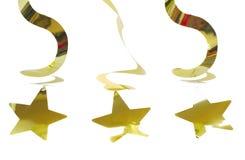 Золотая гирлянда с звездой Стоковые Изображения RF