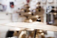 Золотая деталь барабанчика цимбалы металла Стоковые Фото