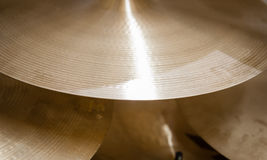 Золотая деталь барабанчика цимбалы металла Стоковое Изображение RF
