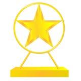 Золотая звезда Стоковое фото RF