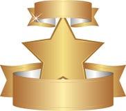 Золотая звезда Стоковое Изображение RF