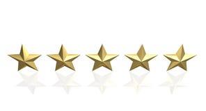 золотая звезда 5 Стоковые Изображения RF