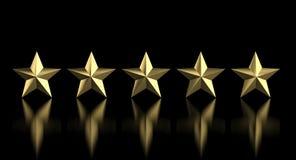 золотая звезда 5 Стоковая Фотография RF