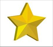 золотая звезда 3d Стоковое Изображение