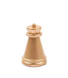 Золотая изолированная диаграмма шахмат грачонка Стоковая Фотография RF
