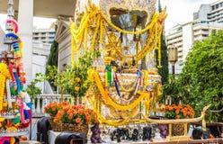 Золотая индусская святыня Стоковое Изображение RF