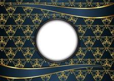 Золотая и темная винтажная предпосылка пробел для сообщения или текста Стоковое Изображение