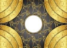 Золотая и темная винтажная предпосылка пробел для сообщения или текста сертификат Стоковое Изображение