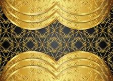 Золотая и темная винтажная предпосылка пробел для сообщения или текста сертификат Стоковая Фотография RF