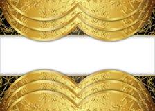 Золотая и темная винтажная предпосылка пробел для сообщения или текста сертификат Стоковая Фотография