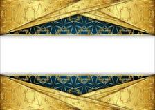 Золотая и темная винтажная предпосылка пробел для сообщения или текста сертификат Стоковое Фото