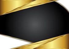 Золотая и темная винтажная предпосылка пробел для сообщения или текста сертификат Стоковые Фото