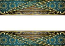 Золотая и темная винтажная предпосылка пробел для сообщения или текста сертификат Стоковые Изображения