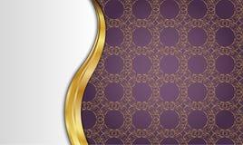 Золотая и фиолетовая винтажная предпосылка пробел для сообщения или текста сертификат Стоковое фото RF