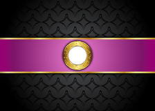 Золотая и фиолетовая винтажная предпосылка пробел для сообщения или текста сертификат Стоковые Изображения