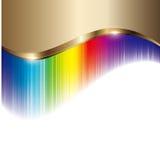 Золотая и цветастая предпосылка Стоковые Фотографии RF
