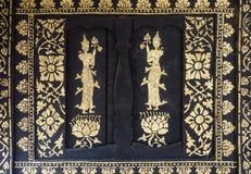 Золотая картина ангела с картиной цветка Стоковые Фото