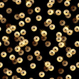Золотая картина sequins - черная предпосылка Стоковая Фотография RF