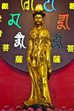 Золотая китайская богиня Стоковые Изображения RF