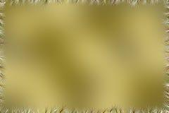 Золотая коричневая предпосылка с с границей лезвий травы Стоковые Изображения RF