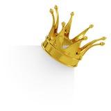 Золотая крона на пустой доске Стоковая Фотография RF