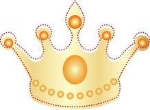 Золотая крона иллюстрация штока