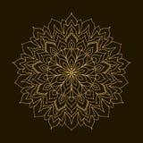 Золотая мандала Орнамент циркуляра шаблона Стоковые Изображения
