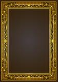Золотая металлическая прямоугольная ретро рамка Стоковое Изображение RF