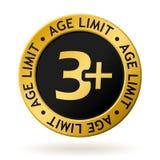 Золотая медаль возрастного ограничения вектора Стоковые Фото