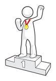 Золотая медаль Стоковое фото RF