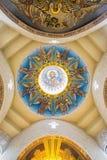 Золотая мозаика на куполе собора Стоковое Изображение RF