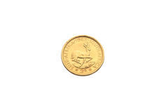Золотая монетка 2 рандов Стоковые Фото