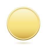 Золотая монетка с космосом экземпляра Стоковое Изображение