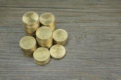 Золотая монетка тайского бата Стоковое Изображение