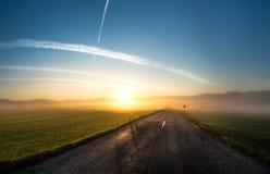 Золотая дорога - roadtrip Стоковые Фотографии RF