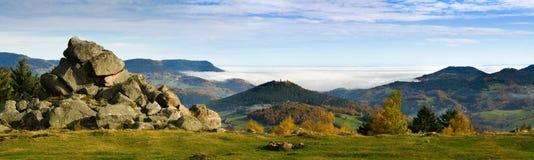 Золотая осень в французе эльзасском Стоковые Фотографии RF