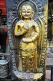 Золотая пагода виска или Hiranya Варны Mahavihar внутри Стоковое Изображение RF