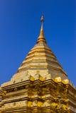Золотая пагода тайская, тайские искусства. Стоковое Изображение