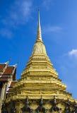 Золотая пагода wat-phra-kaew Стоковые Фото